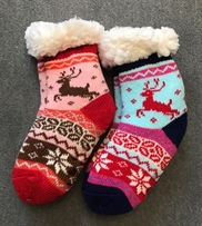 Kinder Wintersocken Rentier